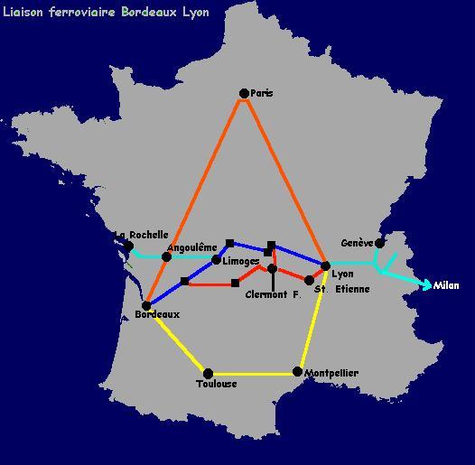 Liaison Ferroviaire Bordeaux Limoges Lyon Geneve